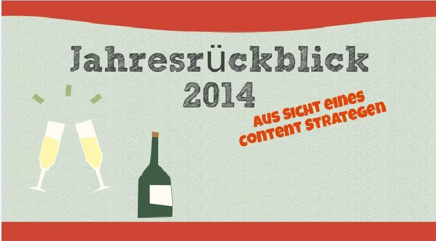 Content Marketing Jahresrückblick 2014